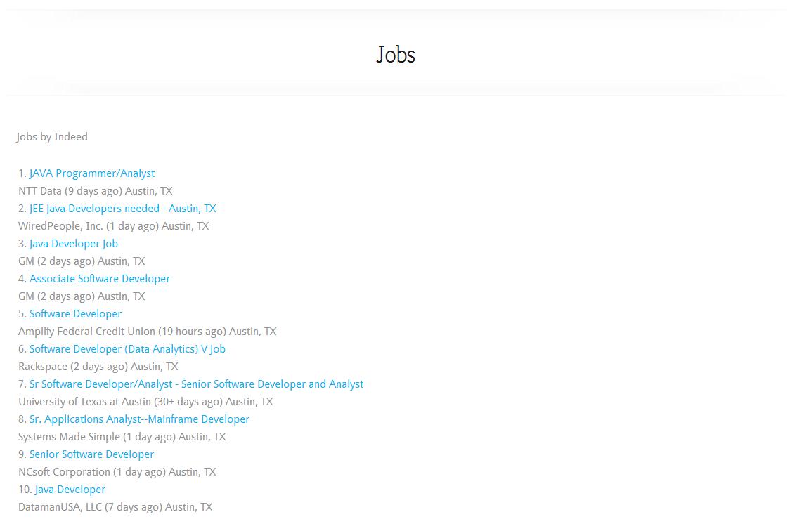 Elegant Tweaks | Adding Indeed Jobs to your website
